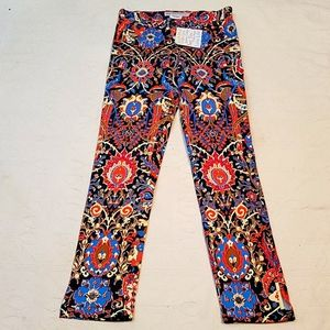 NWT Gretchen Scott jeans high waist floral Sm